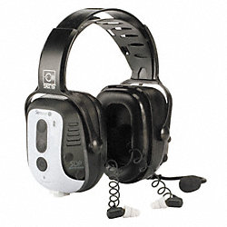 Electronic Ear Muff, 30dB, Over-the-H, Wht