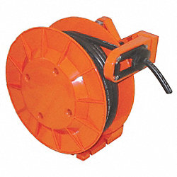 Cable Reel, Spring Driven, 50 Ft, 16/4c