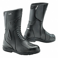 Motorcycle Boots, Pln, Ins, Men, 13, Blk, 1PR