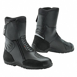 Motorcycle Boots, Ins, Men, 12-1/2, Blk, 1PR