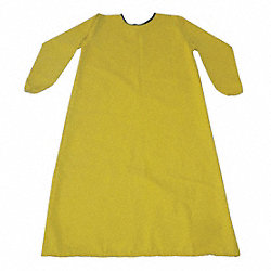 Smock Apron, Yellow, XL, 46-1/2 In. Long