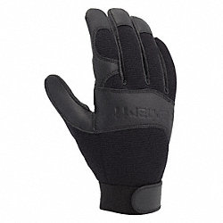 Mechanics Gloves, Black, Unlined, XL, PR