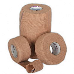 Cohesive Bandage, Tan, 3 In x 5 Yd, PK 24