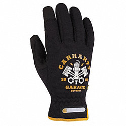 Mechanics Gloves, Unlined, Black, XL, PR