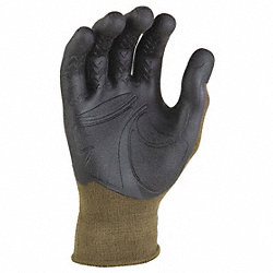 Mechanics Gloves, Army, L/XL, PR