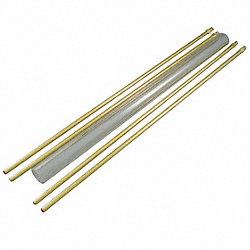 Glass Rod Kit, Plain, 5/8In Dia, 18In L