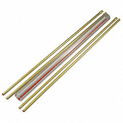 Glass Rod Kit, Red Line, 5/8In Dia, 9In L