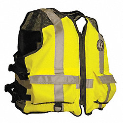 Mesh Life Vest, Yellow/Green, 2XL/3XL