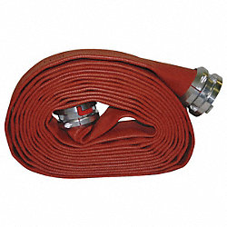 Supply Line Fire Hose, Dia. 4 In., Red