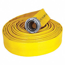 Supply Line Fire Hose, Yellow, Rigid Storz