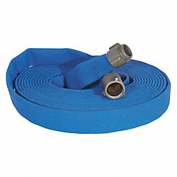 Attack Line Fire Hose, 50 ft. L, Blue