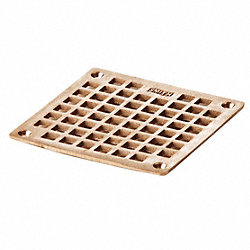 Floor Drain Grate, Square, 5-9/16In