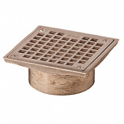 Floor Drain Strainer, Square, 6In