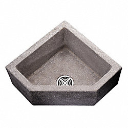 Mop Sink, 24x24x12In, Black/White