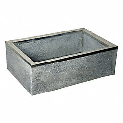 Mop Sink, 36x24x12In, Black/White