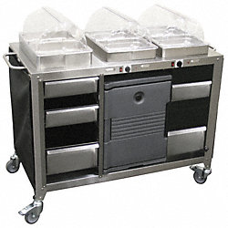Buffet Cart, Mobile, Hot/Cold, 3 Servers