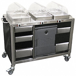 Buffet Cart, Mobile, Hot, 3 Servers
