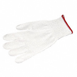 Cut Resistant Glove, White, Reversible, S