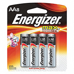 Battery, Alkaline, AA, PK 8