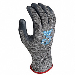 Cut Resistant Gloves, Salt/Pepper, L, PR