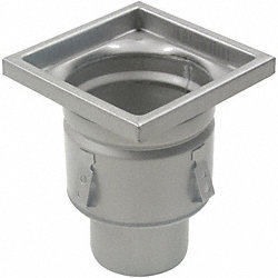 Floor Drain With 8 In Square Top, 4 In