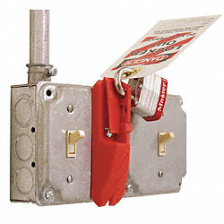 Wall Switch Lockout, Red, 5/16 In. Dia.
