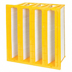 V Bank Minipleat Air Filter, 24 In. W