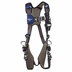 Full Body Harness, S, 420 lb., Blue