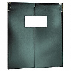 Door, Swinging, 8Ft x 6Ft, Forest Green, PR