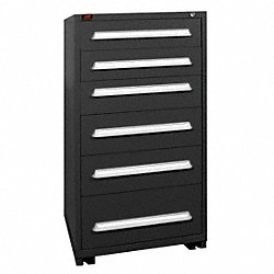 Modular Cabinet, 6 Drawers, Black
