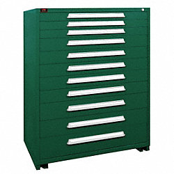 Modular Cabinet, 11 Drawers, Green