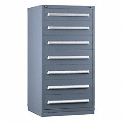 Modular Drawer Cabinet, 7 Drawers, Gray