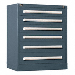 Modular Drawer Cabinet, 6 Drawers, Gray