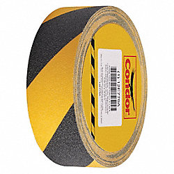 Antislip Tape, Black/Yellow, 2 In x 60 ft.