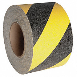 Antislip Tread, Black/Yellow, 3 In x 60ft