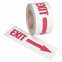 Antislip Tape, Red on White, 3 In x 54 ft.