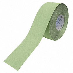 Antislip Tape, White/Green, 1 In x 60 ft.