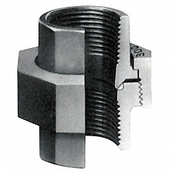 Union, 1-1/2 In, Threaded, Malleable Iron