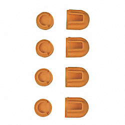 Clamp Pads, 1 In x 3/4 In, Pk 4
