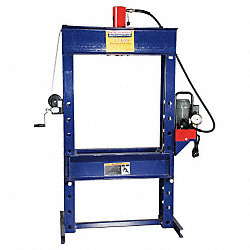 Shop Press w/ Electric Pump, 55 Ton
