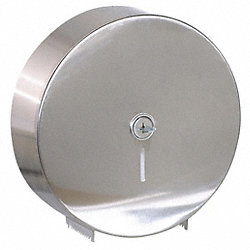 Single Roll Tissue Dispenser, 9 In Roll