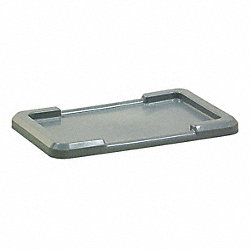 Bin Lid, Gray, Use With 12G973