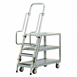Stock Picking Ladder Cart, 51-1/2 In. L