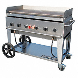 Portable Gas Griddle, 6 Burners