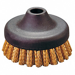 Large Circular Bronze Brush