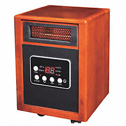 Electric Wooden Box Htr, Fan Forced, 120V
