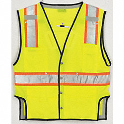 Fall Protection Vest, 2XL/3XL, Lime