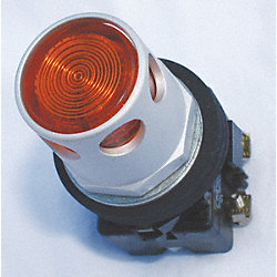 Illum Pushbutton, Amber, 120V