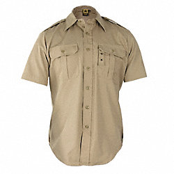 Tactical Shirt, Khaki, Size XL Reg