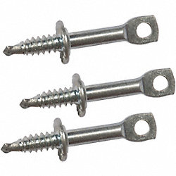Eye Lag Screw, 1/4 Thread, For Metal, Pk 50